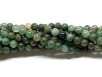 6nm runde grønne jade perler
