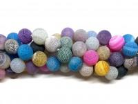 14mm matte multifarvede perler