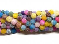 10mm matte multifarvede perler