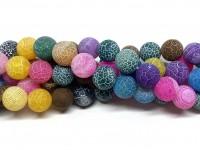 12mm matte multifarvede perler
