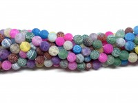 8mm matte multifarvede perler