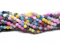 6mm matte multifarvede perler