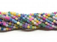 4mm matte multifarvede perler