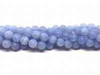 6mm runde kalcedon perler