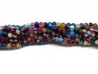 4mm multifarvet stribet agat