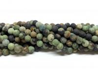6mm matte grønne opal perler