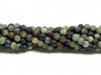 4mm matte grønne opal perler