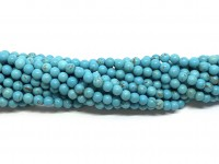 4mm turkis perler