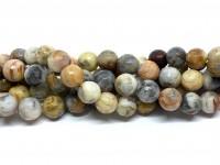 8mm facetslebne perler af crazy agat