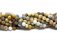 6mm facetslebne perler af crazy agat