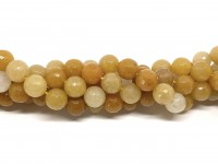 10mm facetslebet gul jade