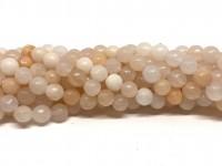 6mm facetslebet pink aventurin perler