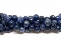 8mm facetslebne denim blå perler