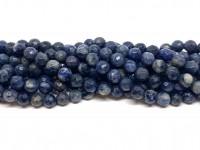 6mm facetslebne denim blå perler