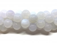 16mm runde perler af hvid agat