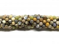 6mm gul mos agat perler