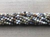 4mm gul mos agat perler