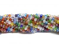 Facetslebne glasperler 3x4mm, mix farver-20