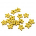 små gule keramik stjerner