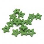 små grønne keramik stjerner