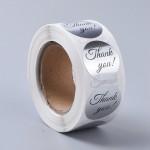 Thank you klistermærker sølv