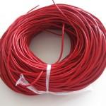 Rund læder 2mm rød-20