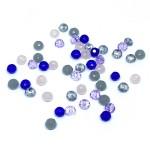 Facetslebne glasperler 2x3mm, mix 01-20