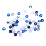 Facetslebne glasperler 2x3mm, mix 02-20