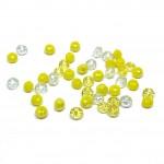facetslebne gule glasperler