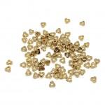 triangel miyuki spacer beads gold