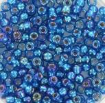 Miyuki seed beads 8/0 Silverlined Capri Blue AB