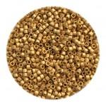 matte 24kt guld perler