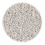 Miyuki Rocailles seed beads, 15/0 mat bright sterling silver plated (961f) 2g-20