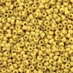 miyuki seed beads matte canary 15/0