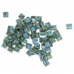 Miyuki Tila perler Opaque Picasso Turquoise Blue