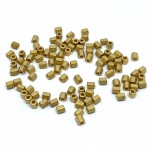 miyuki seed beads guld hex cut mat