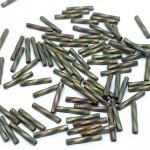 miyuki twist bugles 12mm metallic khaki iris mat