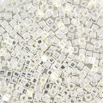 sterling silver plated miyuki cubes 1,8mm
