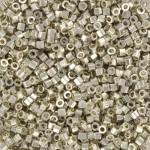 miyuki delicas hex cut galvanized silver