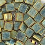 Miyuki Tila perler metallic matte patina iris
