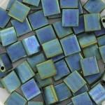 Miyuki Tila perler metallic matte iris Blue green