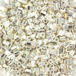 miyuki seed beads sølv hex cut