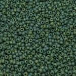 Miyuki Opaque Glazed Frosted Turtle Green