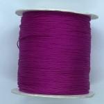 fuchsia pink nylon knyttesnor 0,5mm