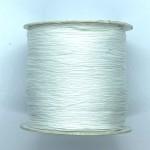 hvid nylon knyttesnor 0,5mm