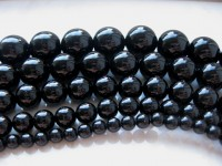 20mm sorte agat perler