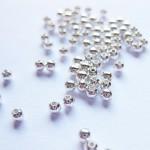 2,4mm sølvbelagte perler, 100 stk-20