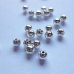 3mm forsølvede perler, 100 stk-20