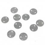8mm sølv mønt med 2 huller