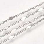 sølv kæde med harlekin mønster
